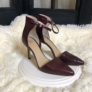 Ann Taylor Burgundy Pointed Heels